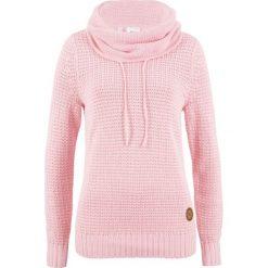 Sweter bonprix pastelowy jasnoróżowy. Czerwone swetry klasyczne damskie bonprix. Za 89,99 zł.