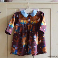 Sukienki niemowlęce: Sukienka z kołnierzykiem, retro