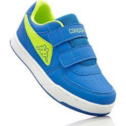 Sneakersy Kappa bonprix niebiesko-limonka. Niebieskie buty sportowe chłopięce bonprix. Za 74,99 zł.