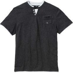T-shirt z kieszonką bonprix antracytowy melanż. Szare t-shirty męskie bonprix, m, melanż. Za 44,99 zł.