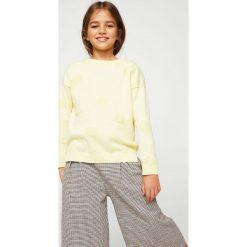 Mango Kids - Sweter dziecięcy Vale 104-164 cm. Szare swetry dziewczęce Mango Kids, z bawełny, z okrągłym kołnierzem. W wyprzedaży za 49,90 zł.