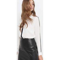 Koszula z lampasami. Brązowe koszule damskie marki Orsay, s, z dzianiny. Za 99,99 zł.