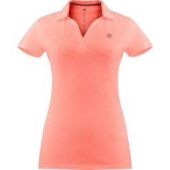 Bluzki asymetryczne: Koszulka polo w kolorze koralowym
