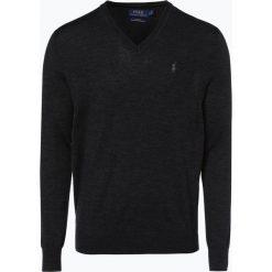 Polo Ralph Lauren - Męski sweter z wełny merino – Slim Fit, szary. Szare swetry klasyczne męskie marki Polo Ralph Lauren, l, z dzianiny, polo. Za 499,95 zł.