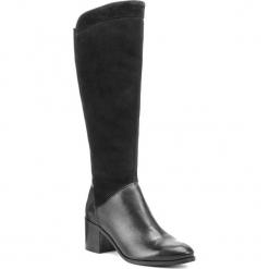 Kozaki SERGIO BARDI - Fiave FW127361318DP  601. Czarne buty zimowe damskie Sergio Bardi, z materiału, na obcasie. W wyprzedaży za 299,00 zł.