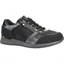 Czarne buty sportowe z ozdobnym suwakiem Casu 6239. Czarne buty sportowe damskie Casu. Za 49,99 zł.