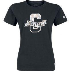 Converse Star Camo Fill Crew Tee Koszulka damska czarny. Czarne t-shirty damskie Converse, s, z nadrukiem, z bawełny, retro, z okrągłym kołnierzem. Za 62,90 zł.
