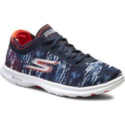 Buty SKECHERS - Go Step 14200/NVCL Navy/Coral. Niebieskie buty do fitnessu damskie Skechers, z materiału. W wyprzedaży za 219,00 zł.