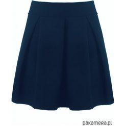Spódnica rozkloszowana kontrafałdy granat. Niebieskie spódnice wieczorowe marki Pakamera, z bawełny. Za 89,00 zł.