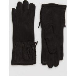Answear - Rękawiczki. Czerwone rękawiczki damskie marki ANSWEAR, z dzianiny. Za 49,90 zł.