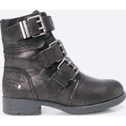 S. Oliver - Botki. Szare buty zimowe damskie S.Oliver, z materiału, z okrągłym noskiem, na obcasie. W wyprzedaży za 159,90 zł.