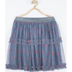 Spódnica. Szare spódniczki dziewczęce z falbankami SUPER GIRL, z nadrukiem, z bawełny. Za 69,90 zł.