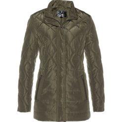 Długa kurtka pikowana bonprix ciemnooliwkowy. Zielone kurtki damskie pikowane marki bonprix. Za 99,99 zł.