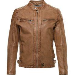 Oakwood TIME Kurtka skórzana cognac. Brązowe kurtki męskie bomber Oakwood, l, z materiału. W wyprzedaży za 762,30 zł.