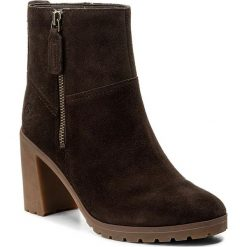 Botki TIMBERLAND - Allington Side Zip C A1KLM  Dark Chocola. Brązowe buty zimowe damskie Timberland, z gumy, na obcasie. W wyprzedaży za 399,00 zł.