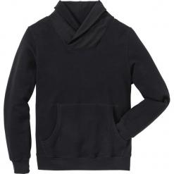 Bluza z szalowym kołnierzem Regular Fit bonprix czarny. Czarne bejsbolówki męskie bonprix, l. Za 109,99 zł.