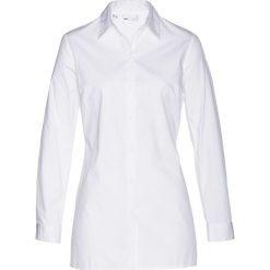 Długa  bluzka bonprix biały. Białe bluzki longsleeves marki Topshop Tall, z poliesteru. Za 69,99 zł.