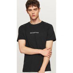 T-shirty męskie: T-shirt z logo Czarny