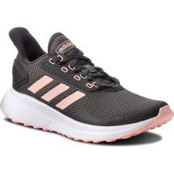 Buty adidas - Duramo 9 BB6930 Carbon/Cleora/Ftwwht. Czarne buty do biegania damskie marki Adidas, z kauczuku. W wyprzedaży za 199,00 zł.