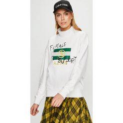 Miss Sixty - Bluza. Szare bluzy z nadrukiem damskie marki Miss Sixty, l, z bawełny, bez kaptura. W wyprzedaży za 299,90 zł.