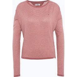 Tommy Jeans - Sweter damski, różowy. Czerwone swetry klasyczne damskie Tommy Jeans, xs, z jeansu. Za 399,95 zł.