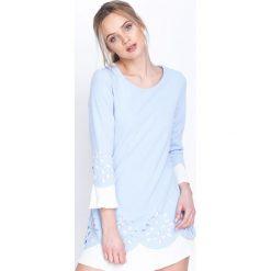 Niebieska Sukienka Northen Star. Niebieskie sukienki mini marki Born2be, na imprezę, s, z materiału, retro, z okrągłym kołnierzem. Za 99,99 zł.