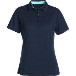 Schöffel CAPRI Koszulka sportowa dunkelblau. Niebieskie topy sportowe damskie Schöffel, z elastanu, polo. Za 209,00 zł.