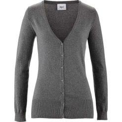 Swetry rozpinane damskie: Sweter rozpinany bonprix szary melanż