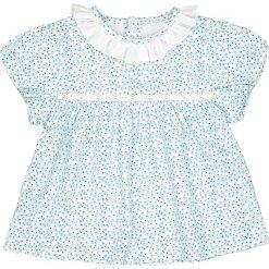 Odzież dziecięca: Koszulka z kołnierzykiem z nadrukiem w kwiaty 1 miesiąc - 3 lata
