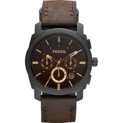 Zegarek FOSSIL - Machine FS4656 Dark Brown/Black. Różowe zegarki męskie marki Fossil, szklane. Za 649,00 zł.
