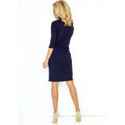 Chantal Sukienka sportowa z golfem i wiązaniem - GRANATOWA. Niebieskie sukienki na komunię numoco, na co dzień, m, z jeansu, sportowe, z golfem, sportowe. Za 110,00 zł.
