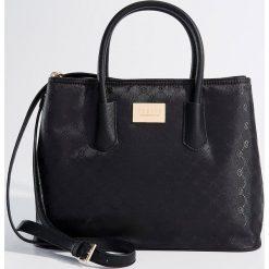 Torba city bag - Czarny. Czerwone torebki klasyczne damskie marki Mohito, z bawełny. Za 119,99 zł.