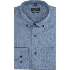 Koszula versone 2830 długi rękaw slim fit niebieski. Niebieskie koszule męskie na spinki Recman, m, z długim rękawem. Za 149,00 zł.