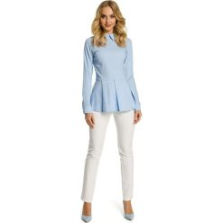 ELAINA Koszula odcinana w talii - błękitna. Brązowe koszule damskie marki Moe, l, z bawełny. Za 119,00 zł.
