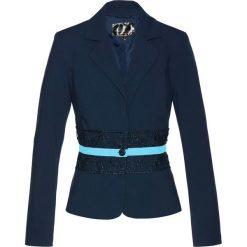 Marynarki i żakiety damskie: Żakiet z koronką bonprix ciemnoniebiesko-pudrowy niebieski