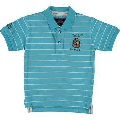 T-shirty chłopięce z krótkim rękawem: Koszulka polo w kolorze turkusowym