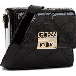 Torebka GUESS - HWPA69 90780  BKS. Czarne listonoszki damskie marki Guess, z aplikacjami, ze skóry ekologicznej. Za 399,00 zł.
