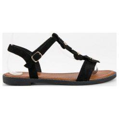 Rzymianki damskie: L. LUX. SHOES zamszowe płaskie sandałki czarne