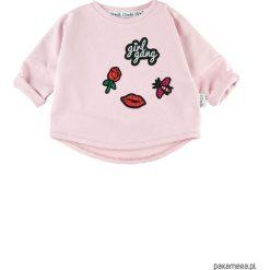 Bluza Girl Gang - różowy. Czerwone bluzy dziewczęce rozpinane marki Pakamera, z bawełny. Za 60,00 zł.