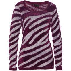 Sweter bonprix czarny bez - srebrny. Fioletowe swetry klasyczne damskie marki DOMYOS, l, z bawełny. Za 49,99 zł.