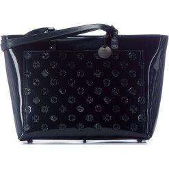 Torebka damska 34-4-083-NL. Niebieskie shopper bag damskie marki Wittchen, z lakierowanej skóry, duże, lakierowane. Za 899,00 zł.