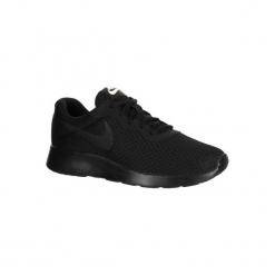 Buty damskie do szybkiego marszu Tanjun w kolorze czarnym. Czarne buty do fitnessu damskie marki Adidas, z kauczuku. W wyprzedaży za 179,99 zł.
