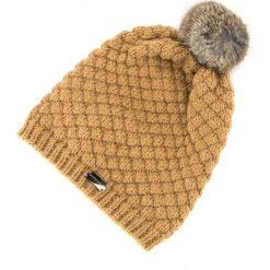 83-HF-008-5 Czapka damska. Żółte czapki damskie Wittchen, na zimę, z materiału. Za 49,00 zł.
