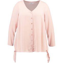 Bluzki asymetryczne: Evans V NECK BUTTON Bluzka dusty pink