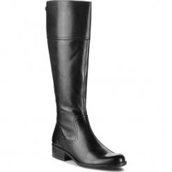 Oficerki CAPRICE - 9-25522-21 Black Nappa 022. Czarne buty zimowe damskie Caprice, z materiału. W wyprzedaży za 409,00 zł.