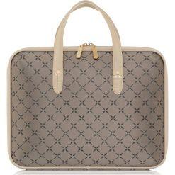 Aktówka damska. Brązowe torby na laptopa Ochnik, z lakierowanej skóry. Za 299,90 zł.
