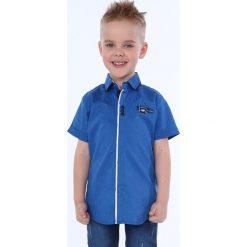 Koszula chłopięca z krótkim rękawem chabrowa NDZ7494. Niebieskie koszule chłopięce z krótkim rękawem Fasardi. Za 49,00 zł.