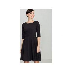 Sukienka K219 Czarny. Szare sukienki balowe marki Lenitif, l. Za 129,00 zł.