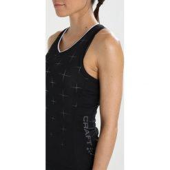 Craft BELLE GLOW SINGLET  Koszulka sportowa black/white. Czarne topy sportowe damskie marki Craft, m. Za 299,00 zł.