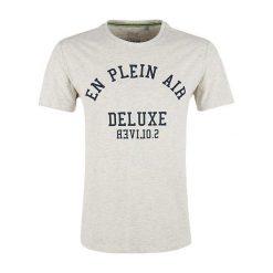 S.Oliver T-Shirt Męski M Kremowy. Białe t-shirty męskie S.Oliver, m, z bawełny. Za 59,00 zł.